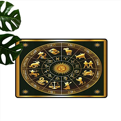 Amazon com : Astrology Non-Slip Door mat Wheel Zodiac Astrological
