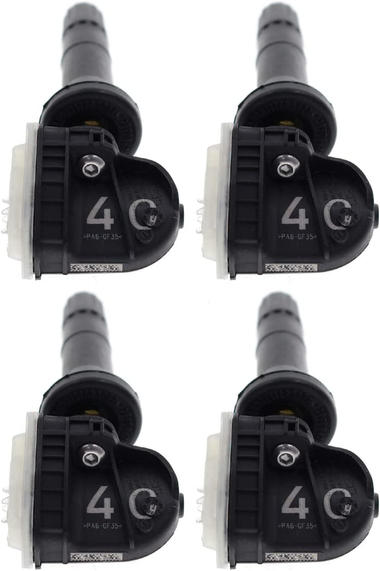 MOTOALL 4PCS 433MHz TPMS Tire Pressure Sensors 13516165 for GMC Cadillac Buick