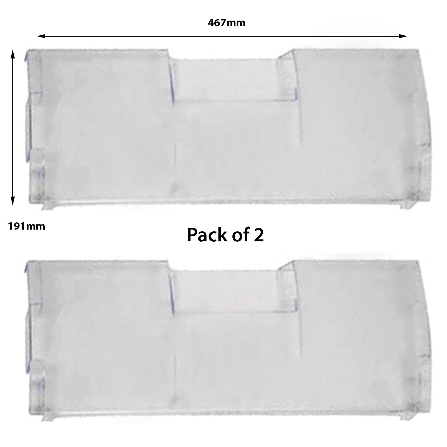 SPARES2GO Drawer Front Cover Flap for Beko Freezer (Pack of 2)