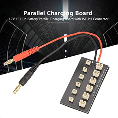 12 3.7V 1S Charging Board with JST-PH Connector Lithium Battery Parallel Match with B6 Balance Charger