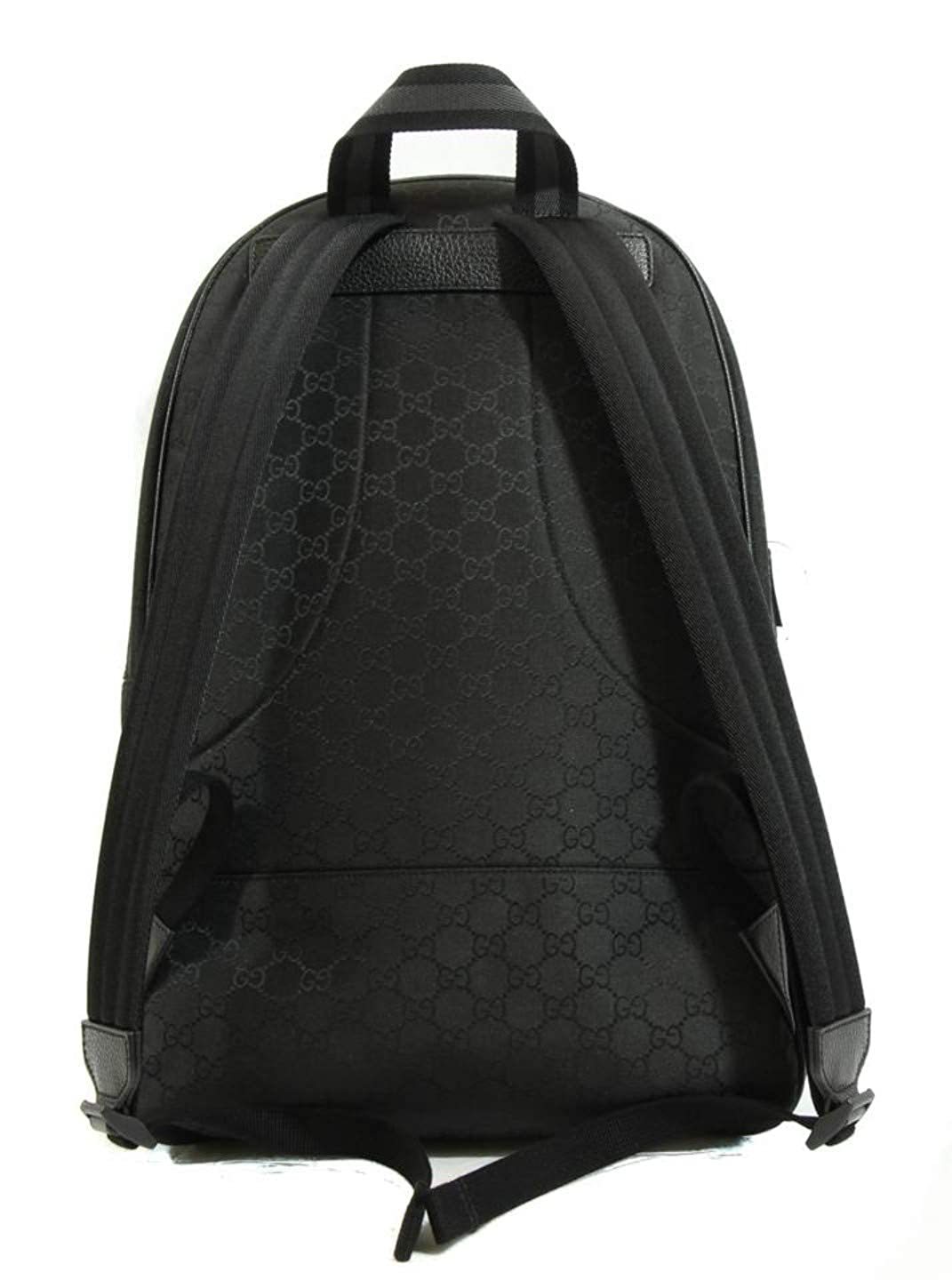 3751a595a08 Gucci Nylon GG Guccissima Slim Backpack Travel Bag (Black)  Amazon.co.uk   Clothing