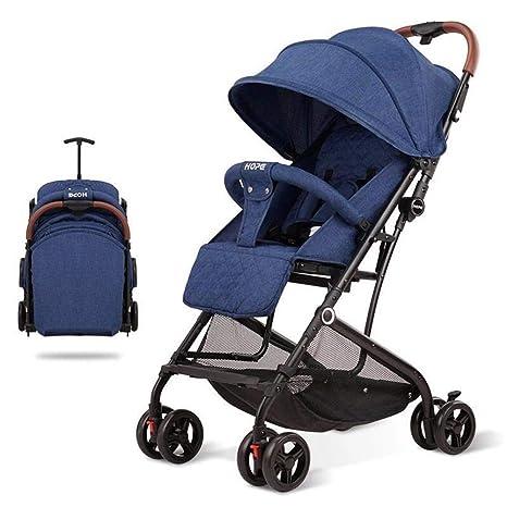 Buggy de viaje,Compacto Cochecito de bebé Doblaje con una mano Arnés 5-point