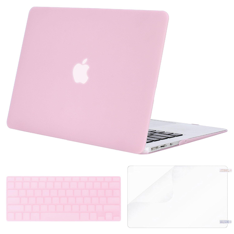 cubierta para teclado y protector de pantalla para MacBook Air de 13 pulgadas modelos: A1369 y A1466, versi/ón anterior 2010-2017 Light Teal MOSISO Estuche r/ígido de pl/ástico