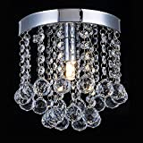 Crystal Chandelier Lighting, Modern Flush Mount Ceiling Light, Rain Drop Pendant Ceiling Lamp For Hallway, Dining Room, Bedroom, Bathroom, Stairwells, Banquet Hall Review