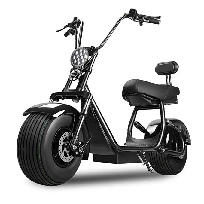 Scooter eléctrico para adultos, patineta eléctrica Harley, batería ...