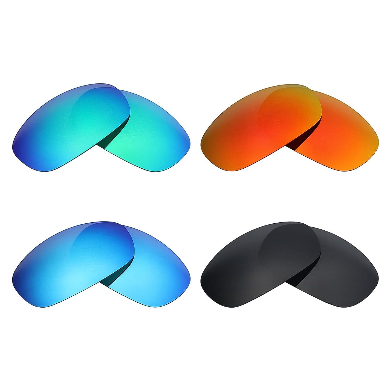MRY 4pares polarizadas lentes de repuesto para Costa del Mar salmuera sunglasses-stealth negro/fuego rojo/hielo azul/verde esmeralda Mry Lenses