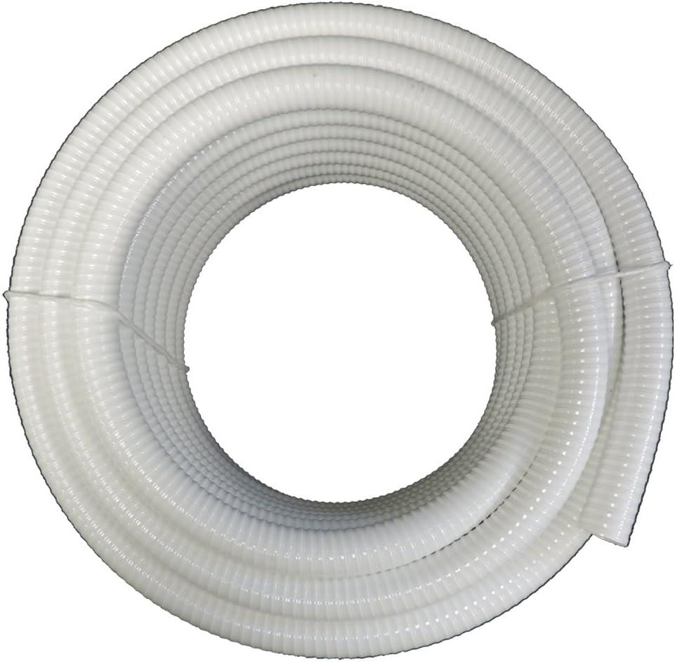 "(2"" Dia. x 100 ft) - HydroMaxx White Flexible PVC Pipe, Hose, Tubing for Pools, Spas and Water Gardens 61AgCwZr4QL"