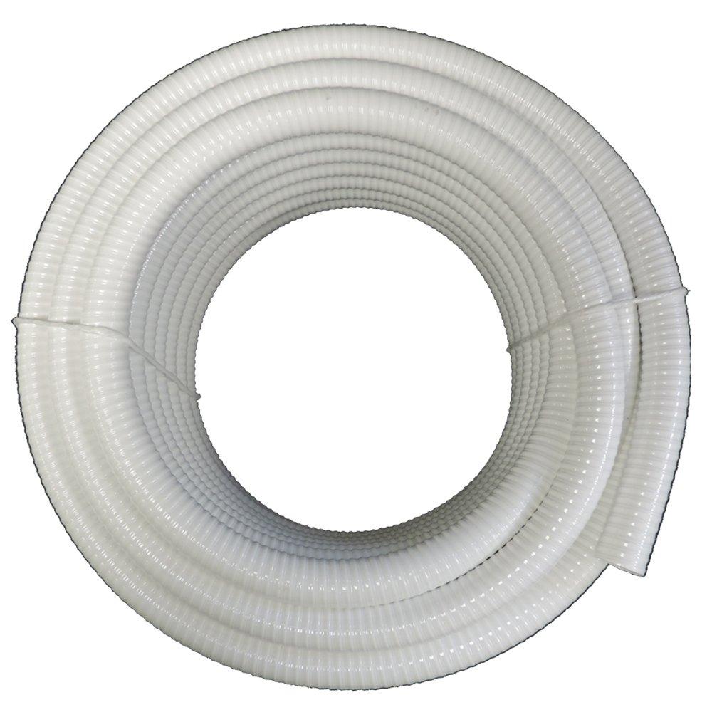 Maxx Flex (3/4'' Dia. x 100 ft) - HydroMaxx White Flexible PVC Pipe, Hose, Tubing for Pools, Spas and Water Gardens by Maxx Flex