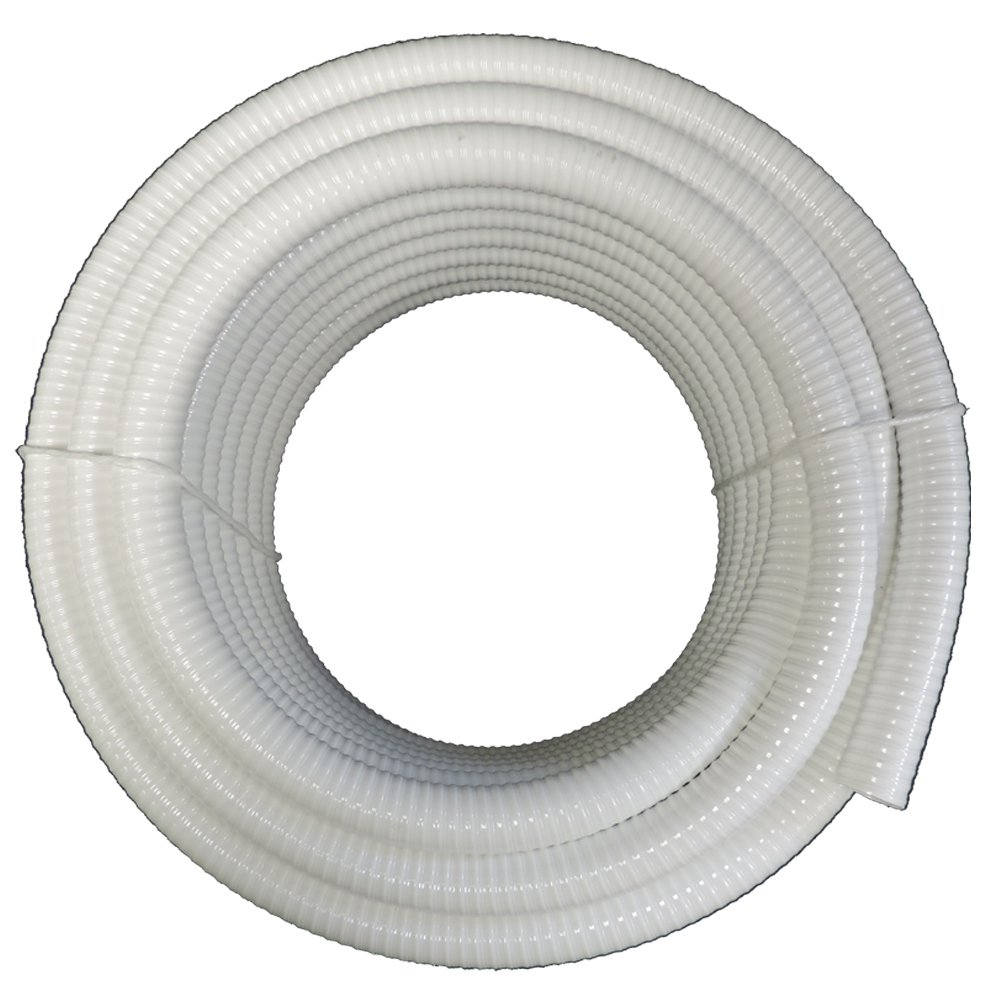 (4'' Dia. x 25 ft) - HydroMaxx White Flexible PVC Pipe, Hose, Tubing for Pools, Spas and Water Gardens