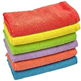 Clean Leader Microfiber Cleaning Cloths Best Kitchen Dish Cloths,multifunctional Microfiber Towel for Dish Towels,bath Towels,car Washing,13.7 By 13.7-inch,6 Colors - 6 pieces