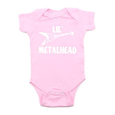 Crazy Baby Clothing LIL' Metalhead Electric Guitar Short Sleeve Baby Infant Bodysuit