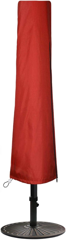 Patio Umbrella Cover Outdoor Waterproof, Simply Shade Hampton Bay Outside Parasol Cover Large Market with Durable Zipper Rod 420D Oxford 7 9 10 11ft Beach Veranda Ravenna Treasure Garden Red