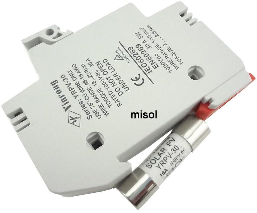 MISOL 1 unit of PV solar fuse 30a 1000VDC fusible 10x38 gPV