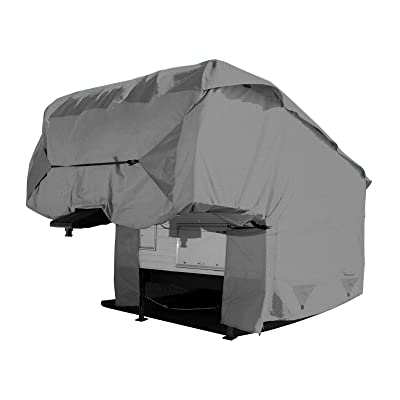 Arch Motoring 5 Layers Fifth Wheels Cover, Outdoor RV Travel Trailer Cover, Waterproof, All Weather Proof, UV Protection, Scratch Resistant, Universal Fit 34' to 37' Long: Automotive
