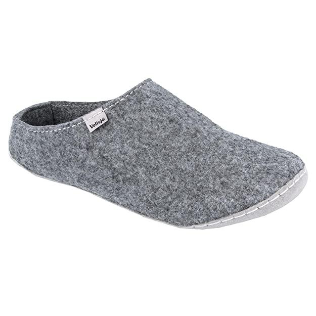 Amazon.com | Vollsjo Mens Felt House Slippers Vegan Handmade in EU Low | Slippers