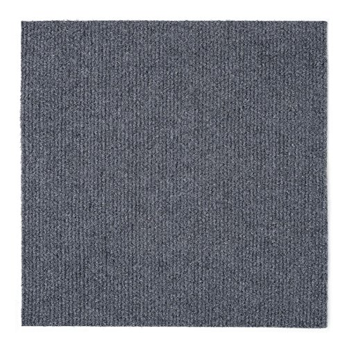 Peel and Stick 12x12 Self Adhesive Do It Yourself (DIY) Ribbed Carpet (12 Self Adhesive)