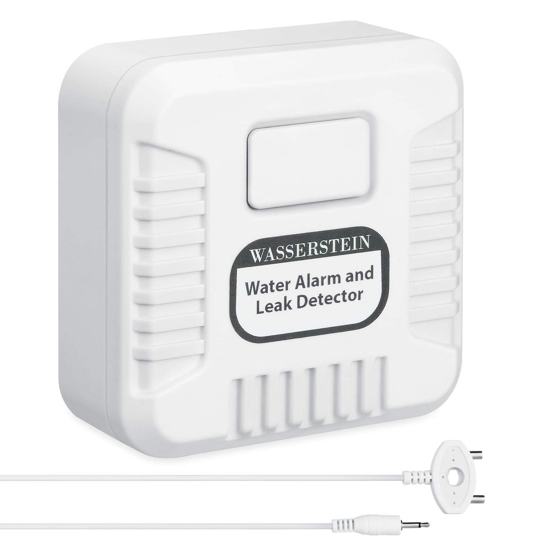 Sch/ützen Sie Ihr Zuhause sicher vor potenziellem Wasseraustritt . 120 dB Wasseralarm- und Leck Detektor mit Sensorsonde und Sensorkabel 3er Pack