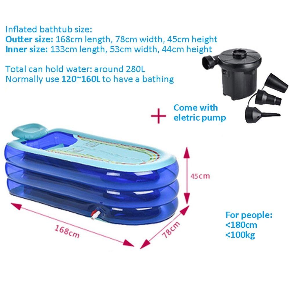 Amazon.com: Large Size Inflatable Bathtub Adult Bathtub Folding ...
