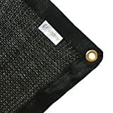 E.share 40% Black Shade Cloth Taped Edge with Grommets Sun Net Sun Mesh Shade Sunblock Shade Sail UV Resistant Net For plant cover For Greenhouse Flowers, Plants, Patio Lawn (10ft X 16ft)