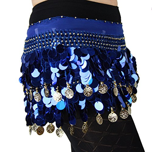 HOTER® Multi-Row Paillettes Gold Coins Belly Dance Wrap & Hip
