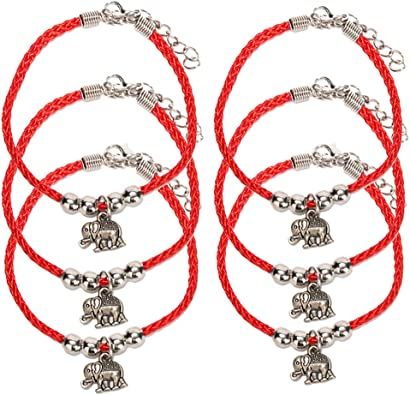 adjustable for man and woman red string Elephant bracelet red string bracelet with an elephant charm for good luck