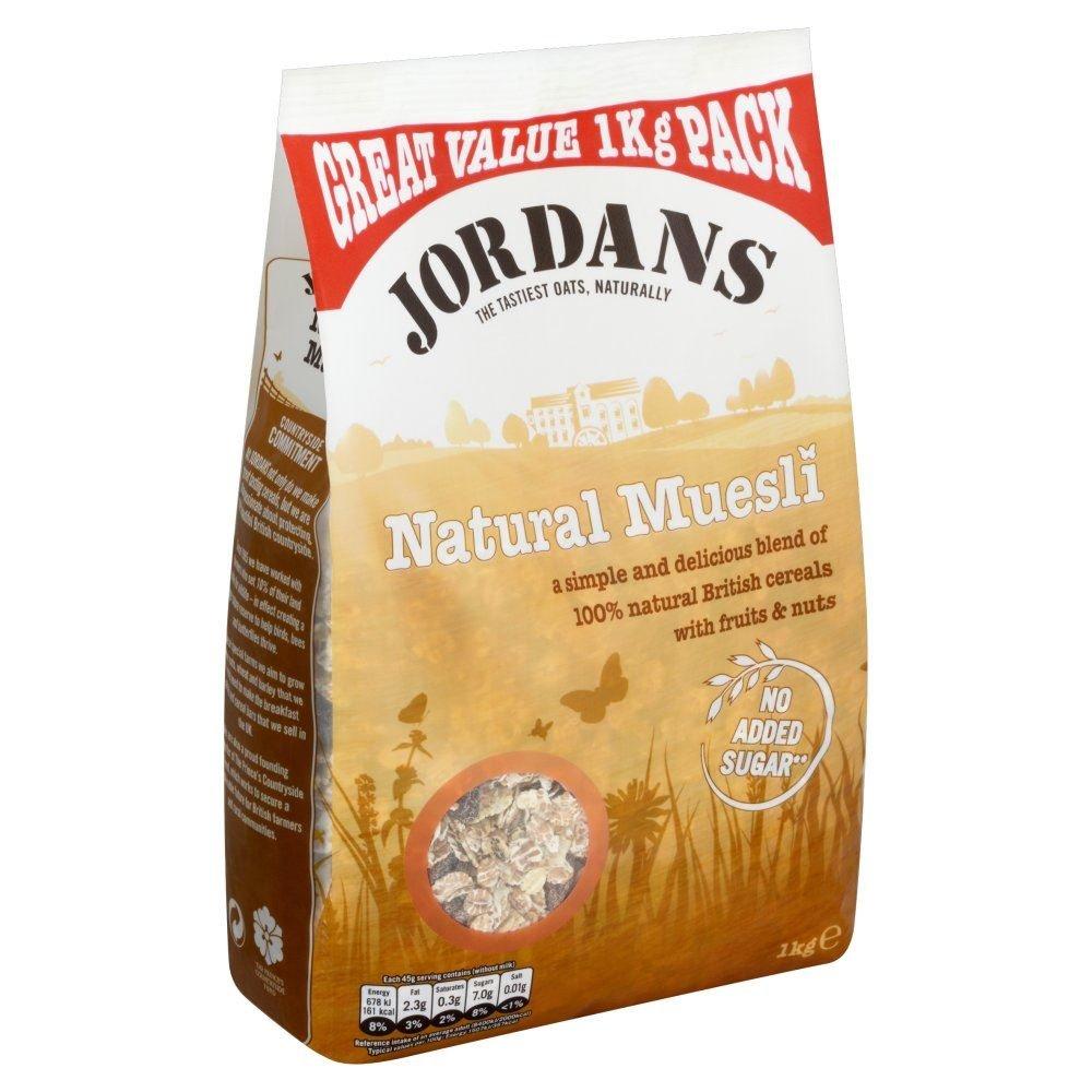 Jordans Natural Muesli - 1kg - Single Pack (1kg x 1 Pack) by Jordans (Image #1)