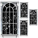 Black Starry Night Window Standee Set