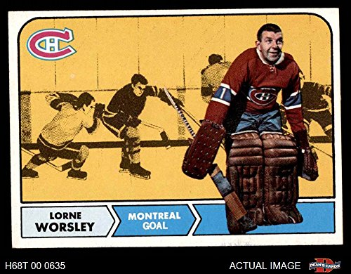 1968 Topps # 56 Gump Worsley Montreal Canadiens (Hockey Card) Dean's Cards 6 - EX/MT - Canadiens Hockey Card