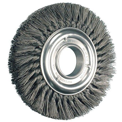 PFERD 82036 Heavy Duty Standard Twist Knot Wheel Brush, Carbon Steel Wire, 8