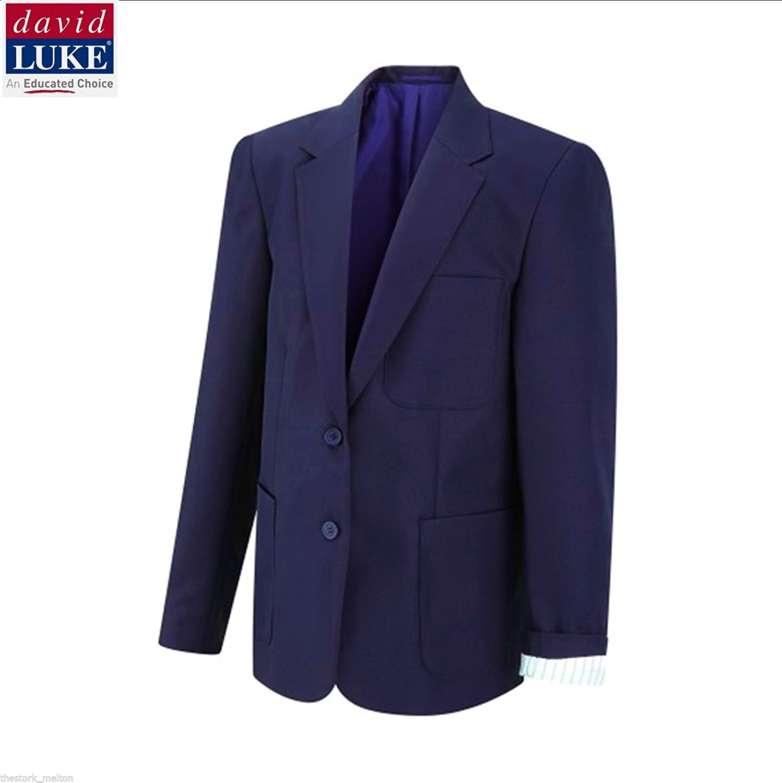 David Luke Girls Ladies Blazer Schoolwear School Uniform Teflon Fabric  Protector Color Navy Chest 81cm   32