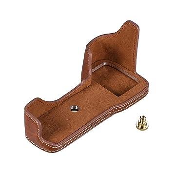 Leather handbag with bottom half wood