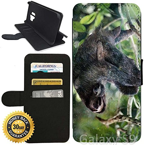 reputable site d3d2a 27537 Amazon.com: Flip Wallet Case for Galaxy S9 (Sloth Family Hanging ...