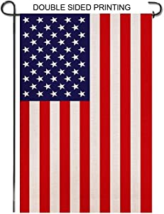 Mosteck American Garden Flags, Double Sided Premium Flag Banner for Home Indoor Outdoor Yard Decoration/Decor - 18 x 12.5 Inch(Garden Flag - A)