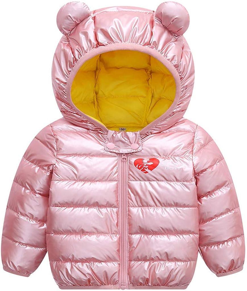 Toddler Baby Boys Girls Down Jacket Windproof Parkas Coat Hooded Warm Outwear