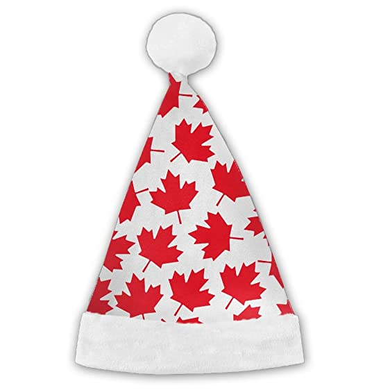 canada red maple leafs christmas special unique santa claus hats kidsadults
