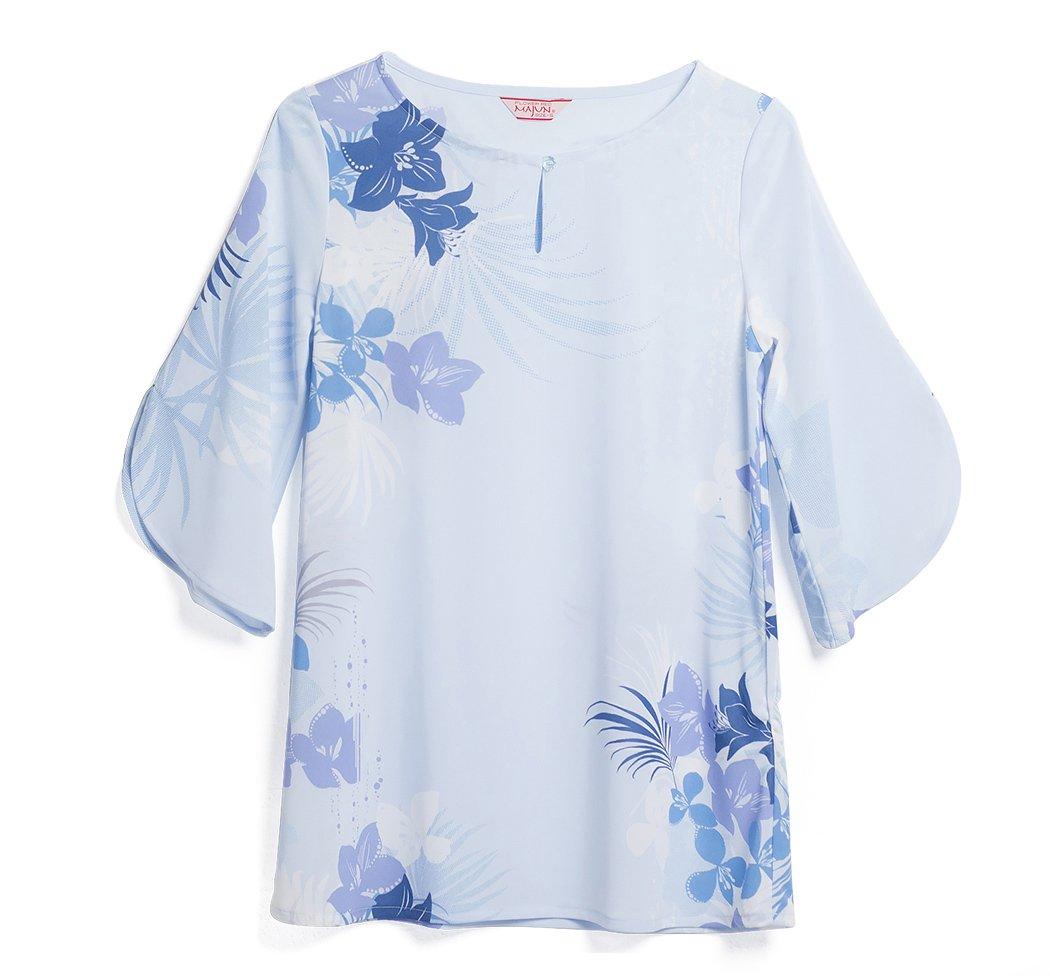 MAJUN (マジュン) かりゆしウェア アロハシャツ かりゆし 結婚式 レディース チュニック ココティエロゼ B07BNJYLV4 M|ブルー ブルー M