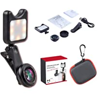 Backber Mobile Phone Camera Lens Kit Selfie Flash with 36x Wide Angle, 15x Macro for iPhone, Android Smartphones and Tablets