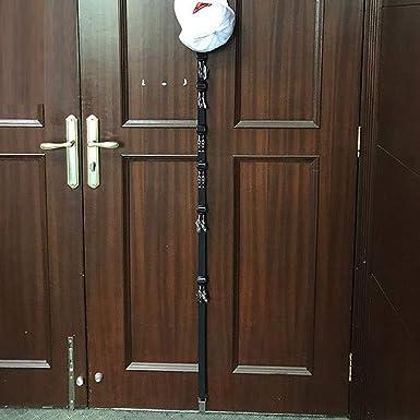 LIEJIE New Baseball Cap Rack Hat Holder Rack Home Organizer Storage Door Closet Hanger Door Coat Rack Wall Hanging Hook Hat Storage Rack (Black): ...