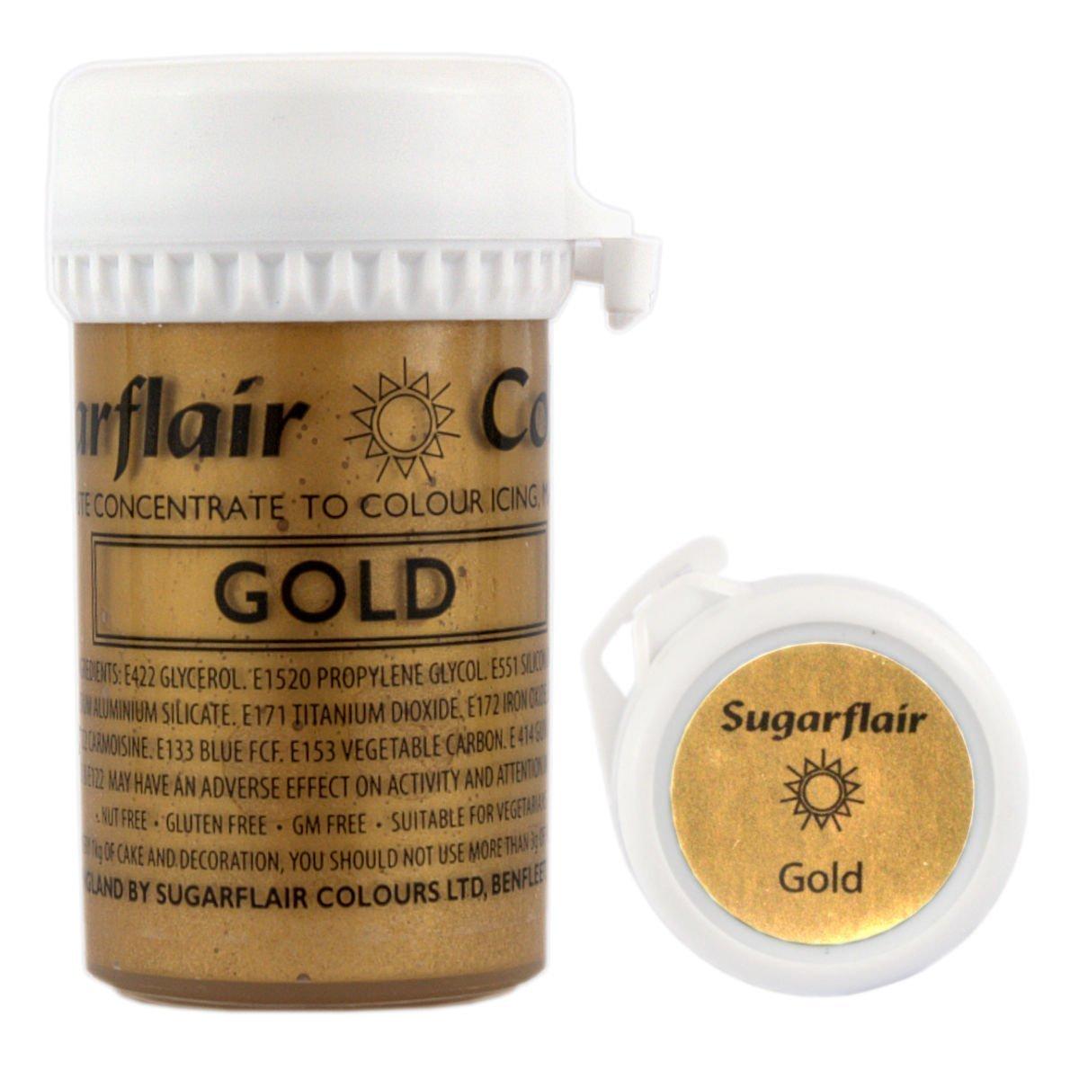 Sugarflair Satin Paste Colouring Gold 25 Gram