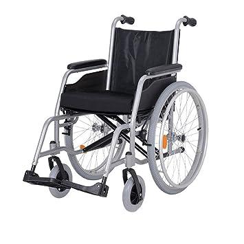 Silla de Ruedas Silla de Ruedas, aleación de Aluminio Ligera y versátil, Carro portátil para discapacitados para Personas de la Tercera Edad con ...