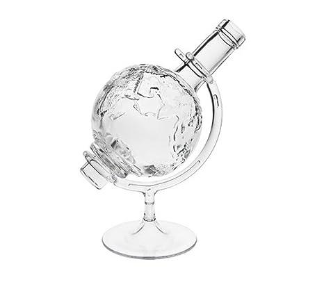 Mundo bola 1 Whisky karrafe cierre con corcho de globo terráqueo   1 pieza   cantidad de 0,5 l 500 ml   Cristal Jarra Mundo Decantador para botella de ...