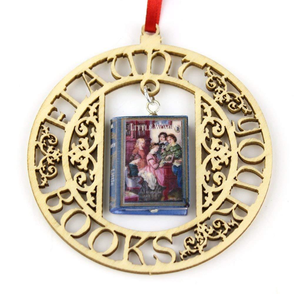 Little Women Louisa May Alcott Clay Mini Book Framed Ornament Home Decoration Trim Favor Trinket