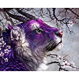 Ant-Tree 19.69''x15.75'' Purple Animal 5D DIY Diamond Painting Kit Full Square Rhinestone Embroidery Cross Stitch Arts Craft for Home Wall Decoration