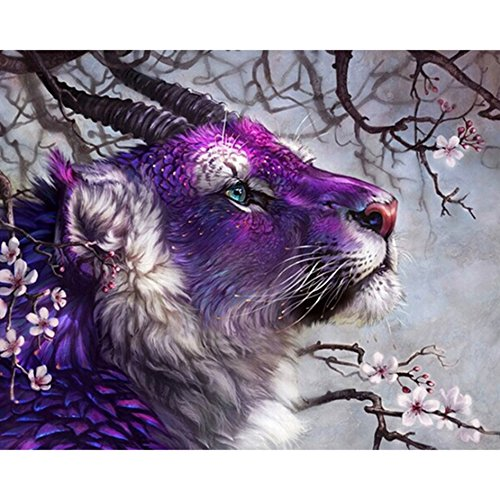 Ant-Tree 19.69''x15.75'' Purple Animal 5D DIY Diamond Painting Kit Full Square Rhinestone Embroidery Cross Stitch Arts Craft for Home Wall Decoration by Ant-Tree