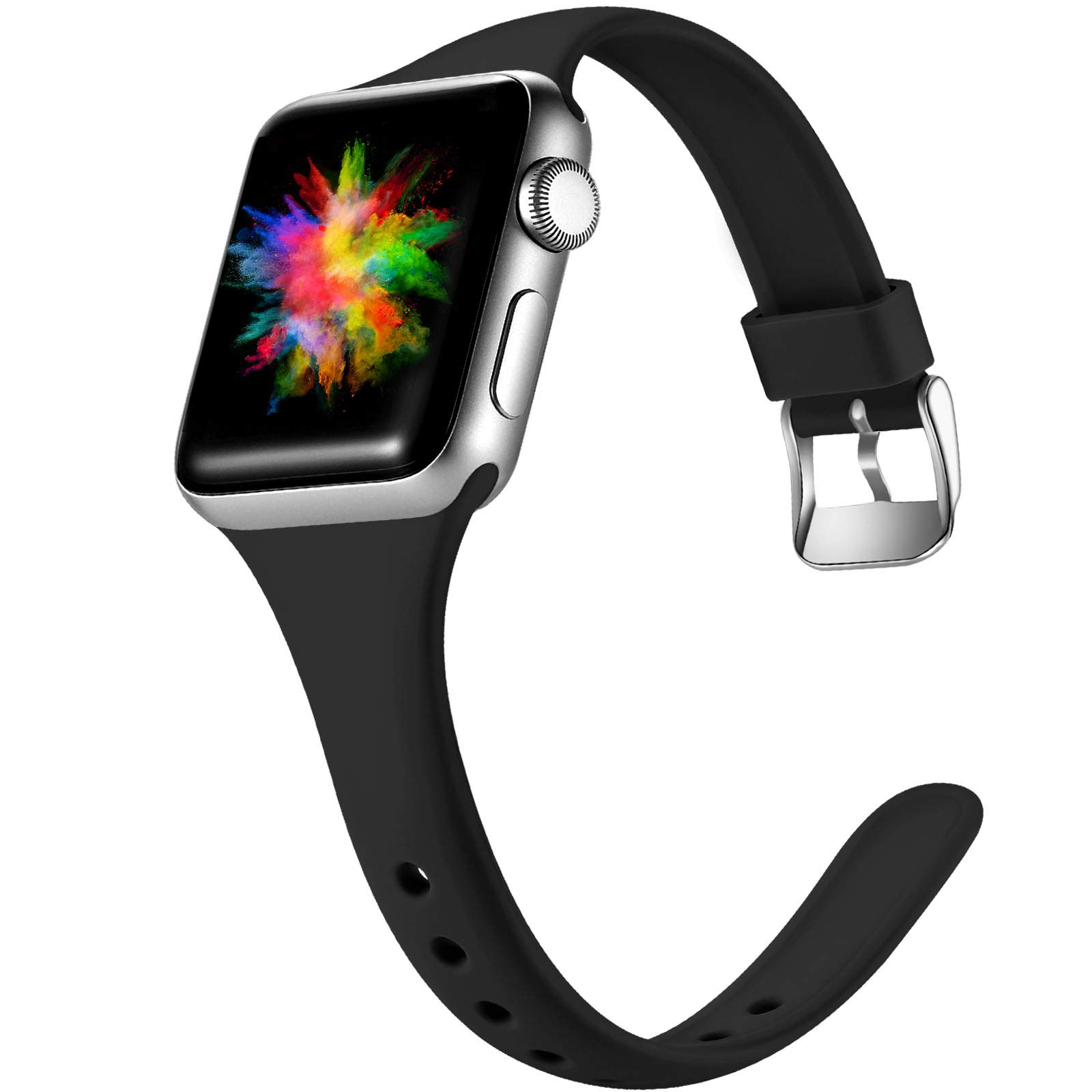 DGege Slim Watch Bands Compatible with Apple Watch 38mm 42mm 40mm 44mm