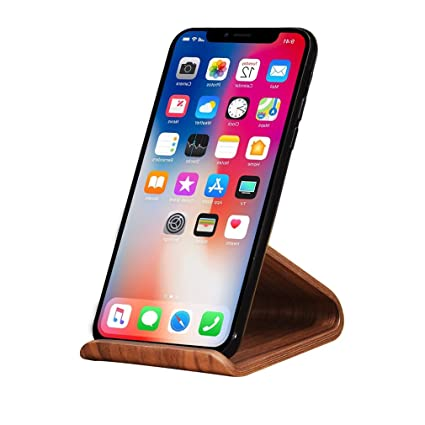 Samdi Cell Phone Stand Iphone Wood Dock Cradle Holder For Switch All Android Smartphone Iphone 6 6s 7 8 X Plus 5 5s 5c Accessories Desk Black
