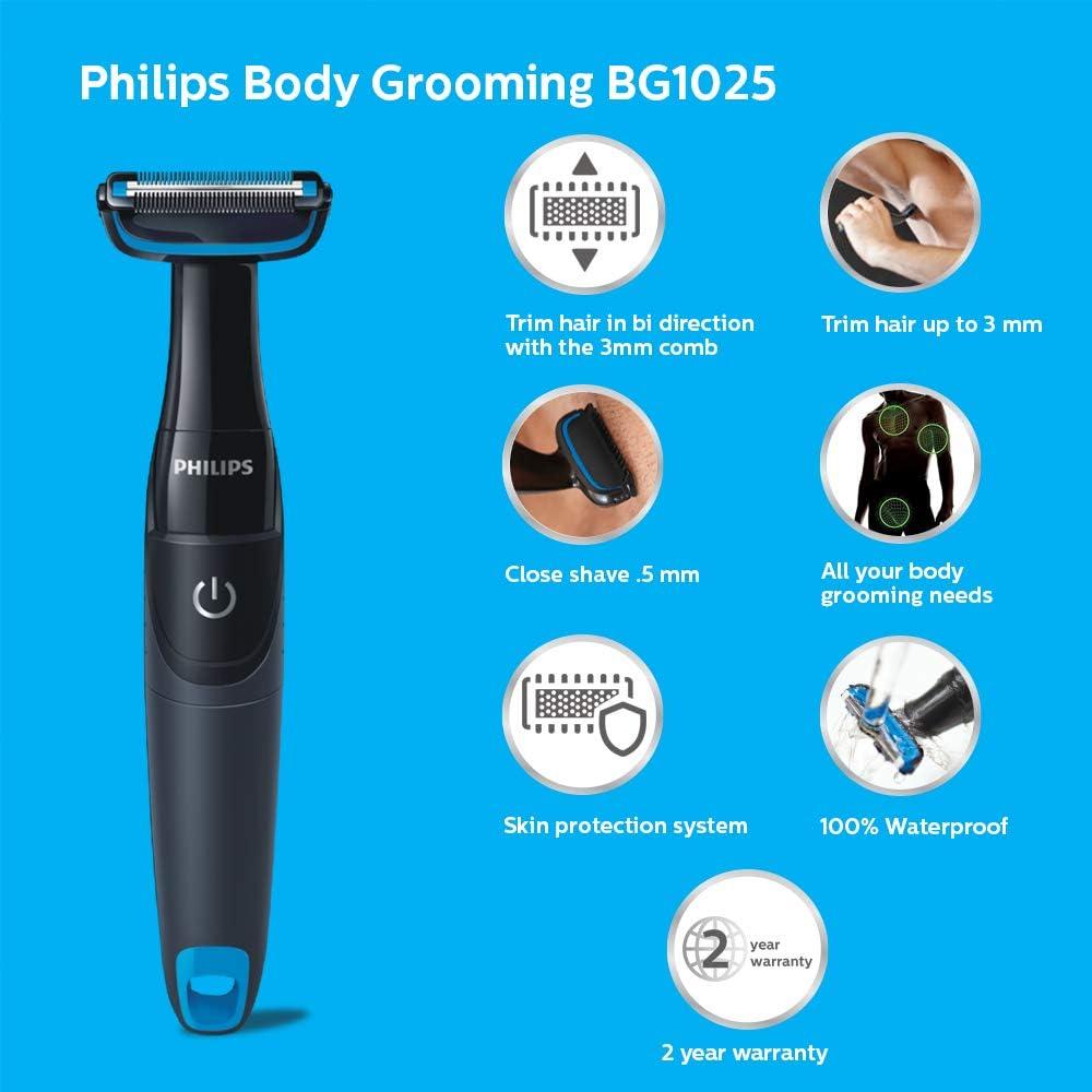 Philips BG1025/15 Showerproof Body Groomer for Men Beard Trimmers