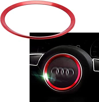 1 Piece Steering Wheel Center Decoration Red Cover Trim For Audi A3 A6 Q3 Q5 A5 A6L Xotic Tech Direct