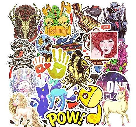 50 PCS Colorful Waterproof Sticker Animal Cartoon Cool Game ...