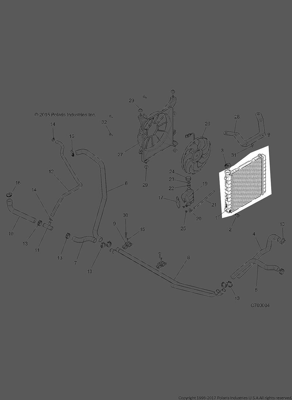 Polaris 2016-2020 Ranger Radiator 1240955 New Oem